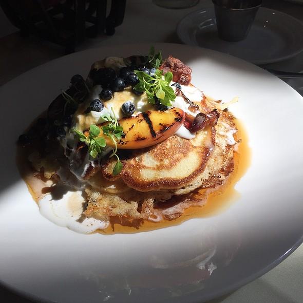 Blueberry Pancakes @ Harvest Restaurant