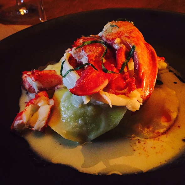 Butter Poached Lobster With Lemon Grass Sauce @ Perry Street