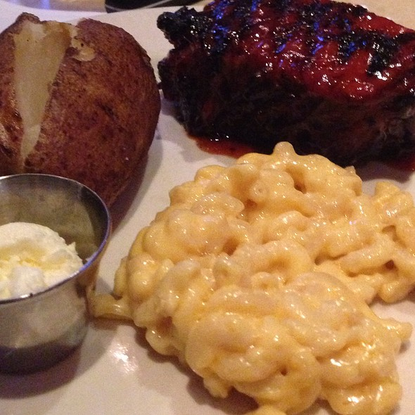 Tri Tip, Mac And Cheese And Baked Potato at Wood Ranch BBQ and Grill  Northridge - Wood Ranch BBQ And Grill Northridge Menu - San Fernando Valley, CA