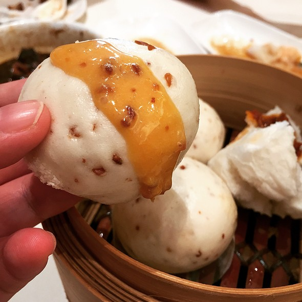 Steamed peanut custard bun @ Yum Cha Garden Restaurant