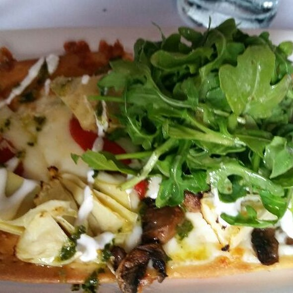 Cedar Roasted Mushroom And Artichoke Flatbread - Fleming's Steakhouse - Houston, Houston, TX