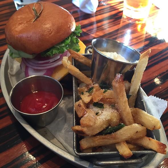 Salmon burger - MET Back Bay, Boston, MA