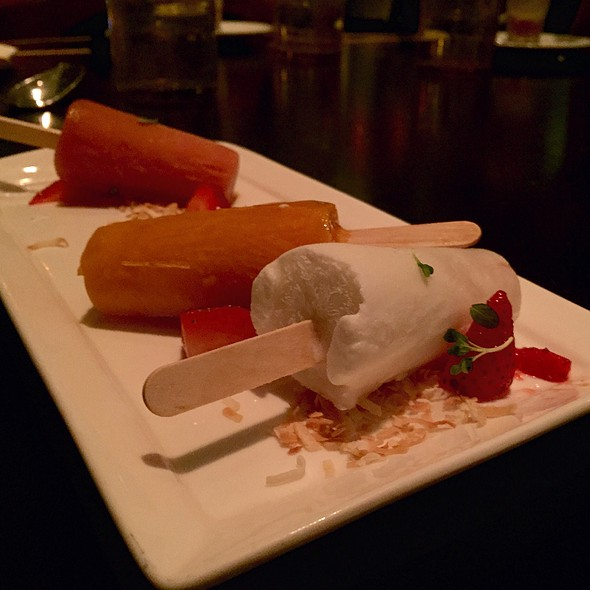Trio Of Sorbet Mini Pops - Bourbon Steak by Michael Mina - Miami, Aventura, FL