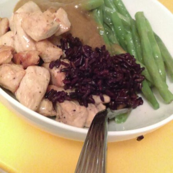 Chicken With Apple Curry And black Rice  @ Home In San Pedro