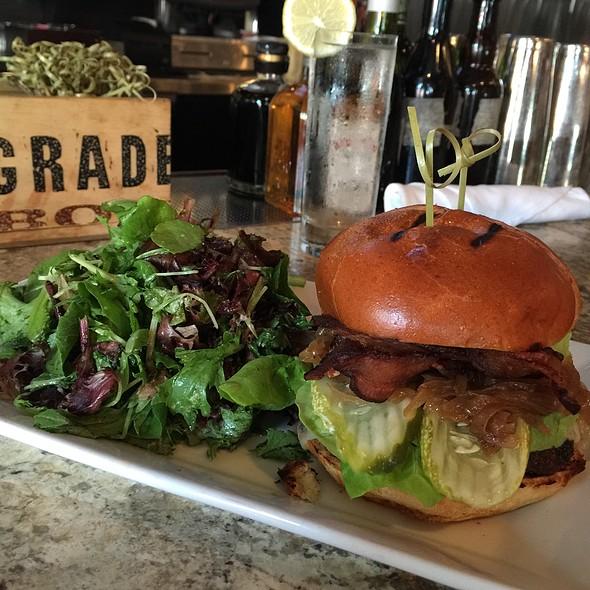 Grass Fed Beef Burger - Areal Restaurant, Santa Monica, CA