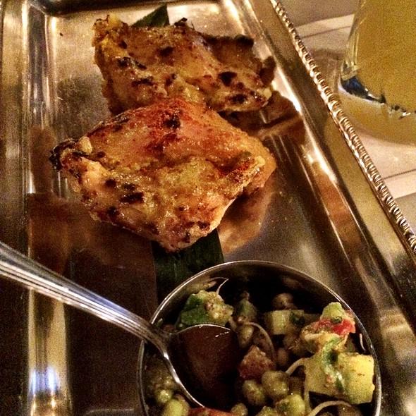 Kasoori Chicken Tikka Sprouting Moong Kachumber @ Gymkhana