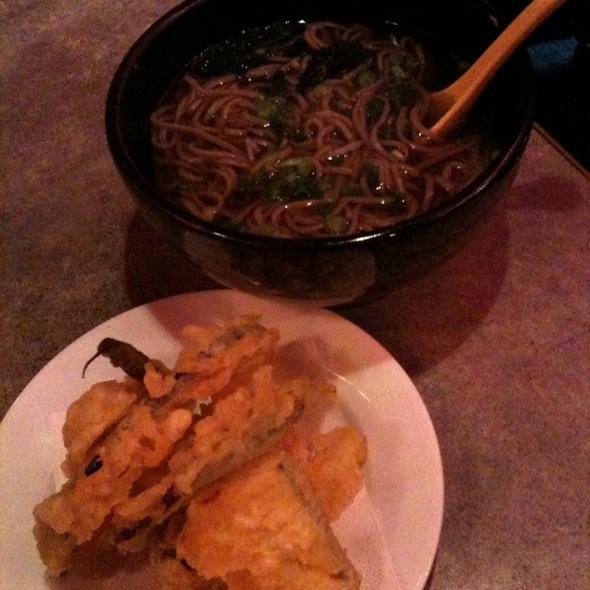 Vegetable Tempura with Soba @ Katana-ya