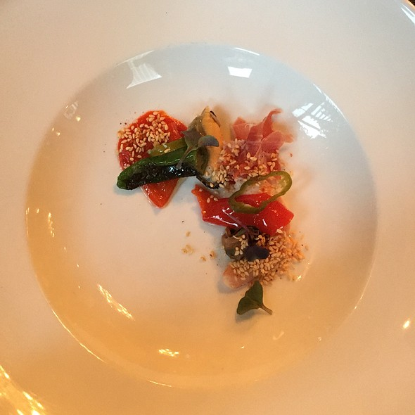 Heirloom Peppers, Prawns And Togarashi