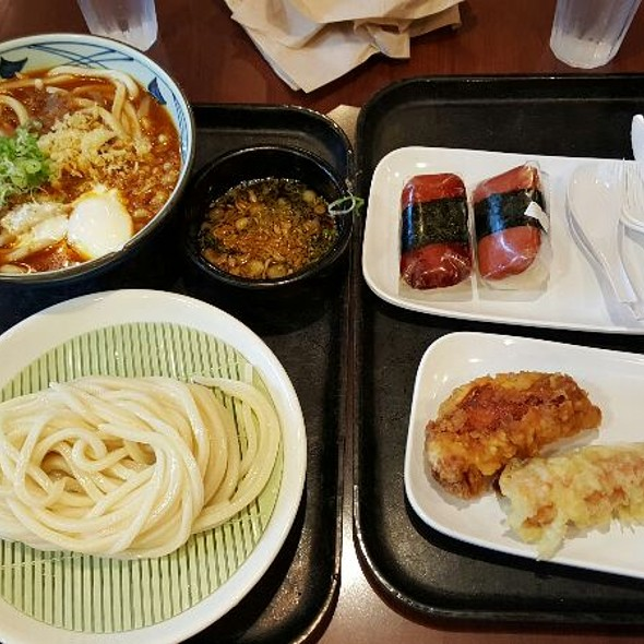 Zaru Noodles, Curry Udon, Spam Masubi, Fried Chicken,  Fried Crab