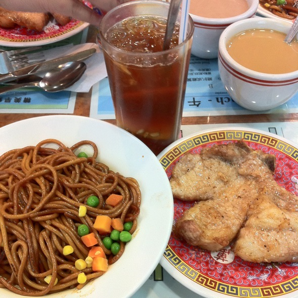 Spaghetti Fried W Pork Chop @ 華樂冰室