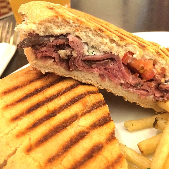 Roast Beef Panini @ Champagne French Bakery & Cafe