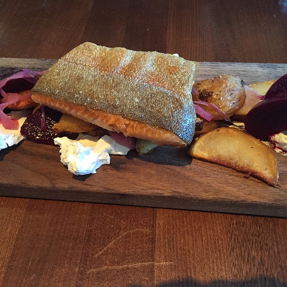 Trout, Beets, Potatoes And Quark