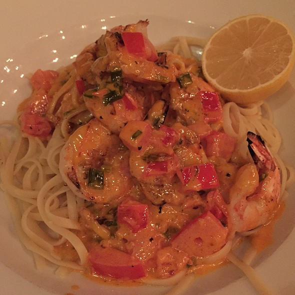 Grilled Shrimp Scampi Over Linguine - Grillfish DC, Washington, DC
