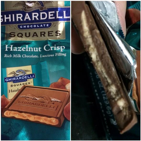 Ghirardelli Chocolate Squares Hazelnut Crisp @ Alohaland Home