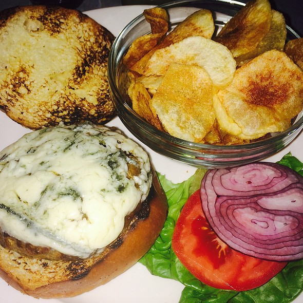 Burger with Blue Cheese - Après Ski Fondue Chalet, New York, NY