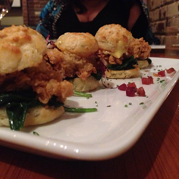 Fried Oyster Sliders @ Bliss
