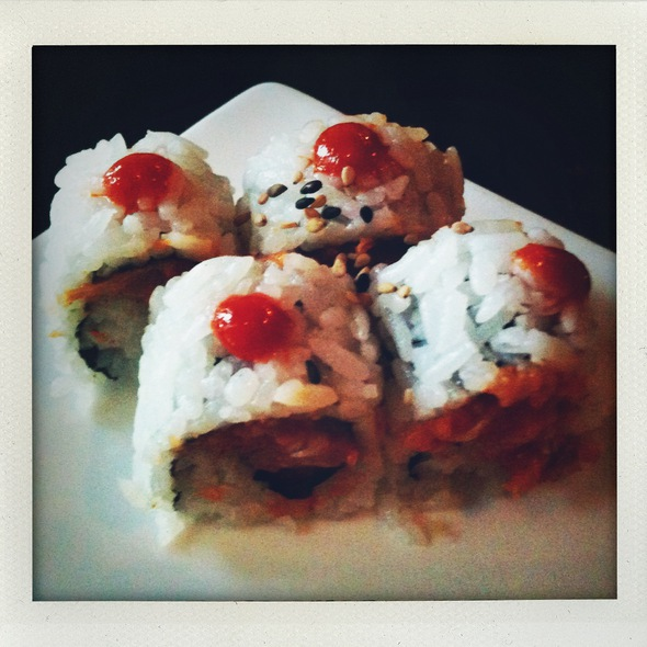 Spicy Salmon Roll @ Avocado California Roll & Sushi at Firewheel