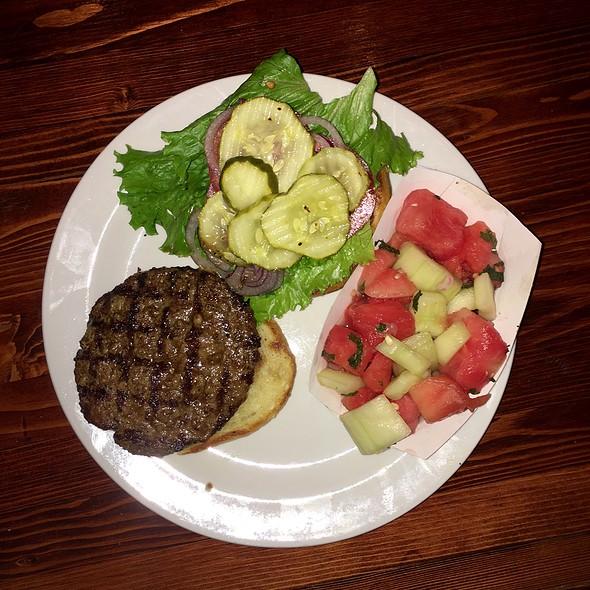 Bob's Burger With Cucumber Watermelon Salad @ California Burger Co.