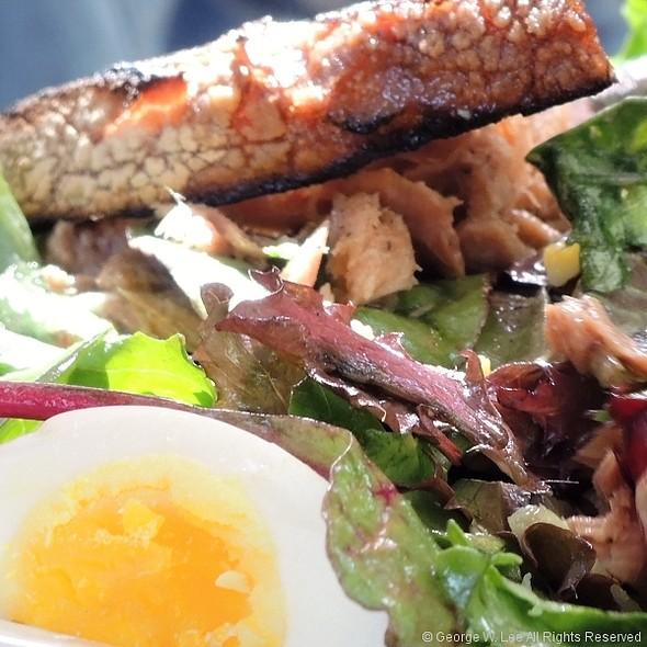 Garden Lettuces, Balsamic Vinaigrette, Hard Cooked Egg and Tuna Salad