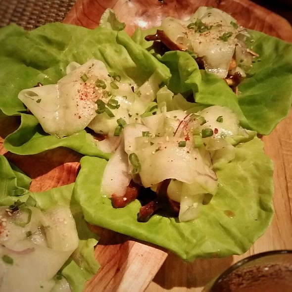 Crispy Kentuckyaki Pig's Ear Lettuce Wraps @ Husk Restaurant