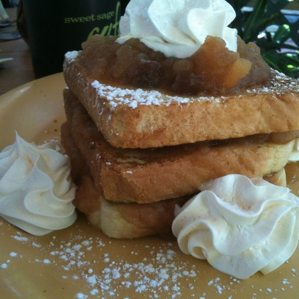Apple Crisp French Toast @ Sweet Sage Cafe