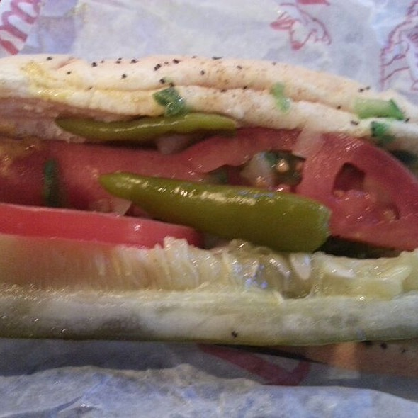 Portillo's Beef Hot Dog
