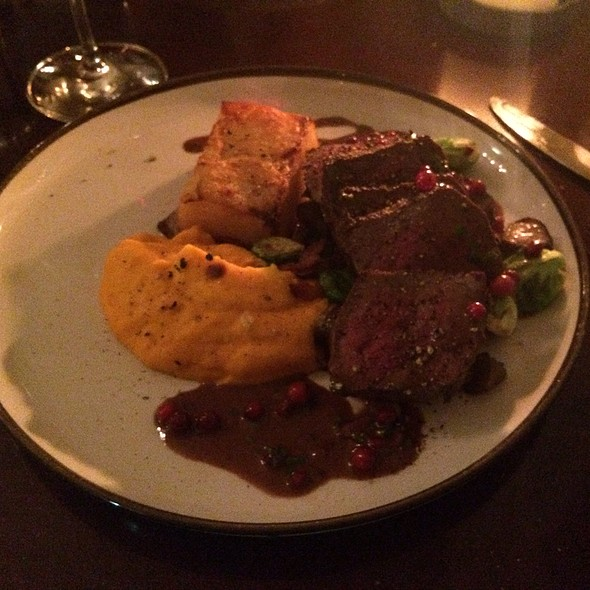 Reindeer Filet With Sweet Potato And Potato Puree