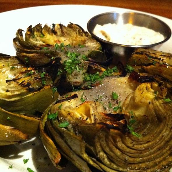 Roasted Artichokes @ Los Altos Grill