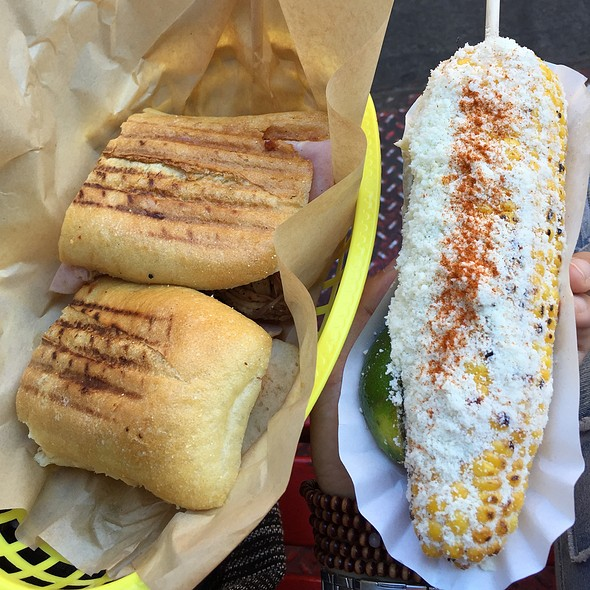 Cuban Sandwich And Grilled Corn
