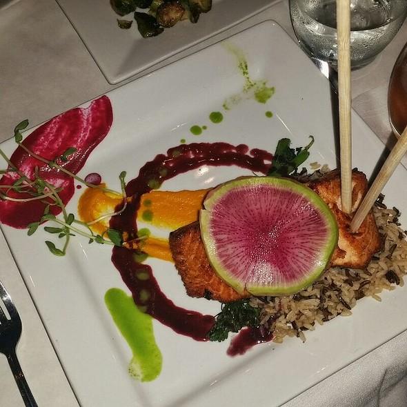 Pan Seared Salmon  @ Salt Restaurant & Wine Bar