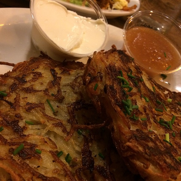 Latkes With House Made Applesauce & Sour Cream @ Wise Sons Jewish Delicatessen