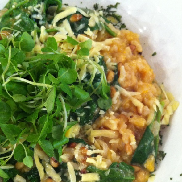 Smashed Pumpkin And Pine Nut Risotto With Pecorino Romano Cheese @ Talk Of The Town