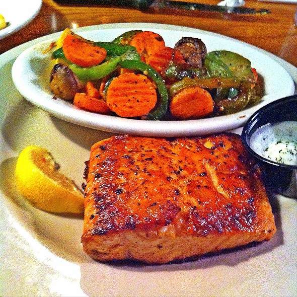 Grilled Salmon @ Cross Creek Steakhouse and Ribs