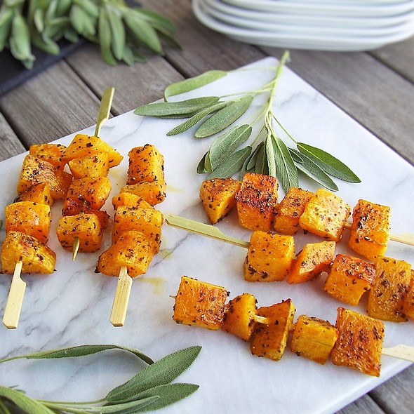 Roasted Butternut Squash Skewers @ Jackie's Test Kitchen
