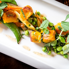 Peas And Carrot Gnocchi