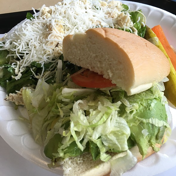 Avocado & Cheese Sandwich W/chinese Chicken salad @ Rascals Teriyaki Grill