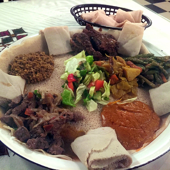 Traditional Sample Platter @ Selam Ethiopian Restaurant & Hooka Lounge