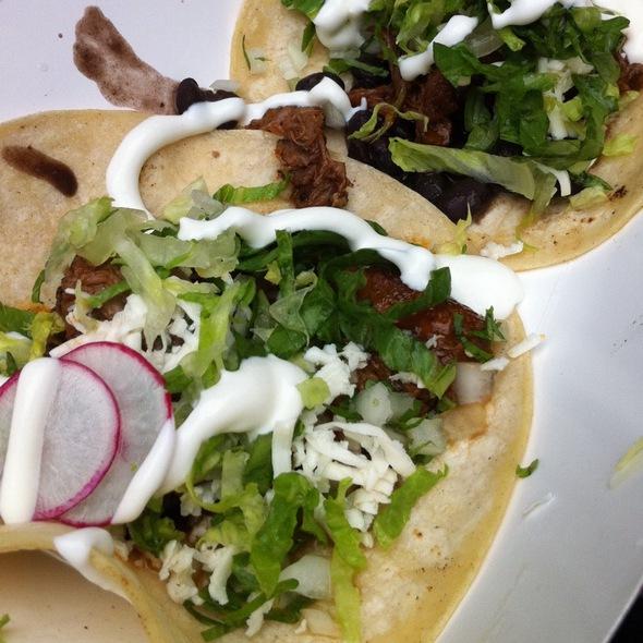 Chipotle Shortrib Tacos @ Guapos Tacos