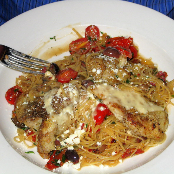 Breaded Flounder with Tomatoes and Angel Hair Pasta - Mele Bistro (formerly Village Bistro), Arlington, VA