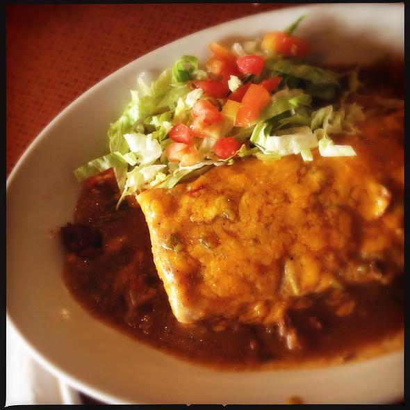 Smothered Al Pastor Burrito