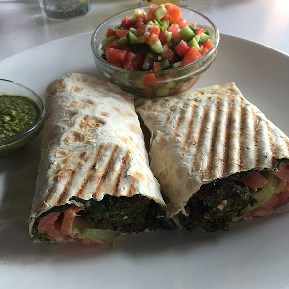 Falafel Wrap & Chop Chop Salad