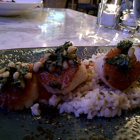 Scallops With Lemon Butter Risotto