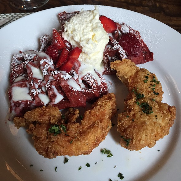Chicken & Red Velvet Waffles @ The Lawrence