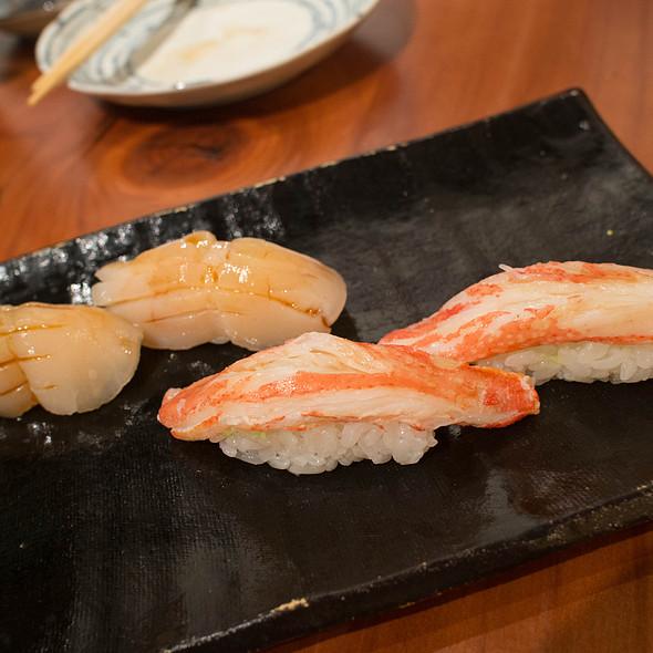 Hokkaido King Crab and Scallop Nigiri @ Gintei Fine Japanese Restaurant