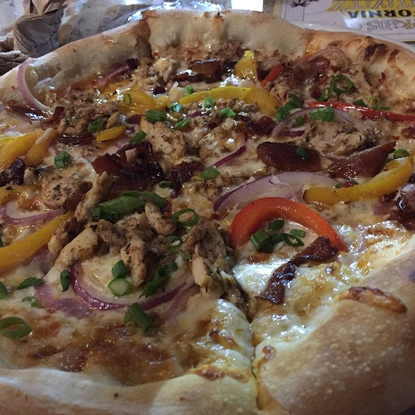Jamaican Jerk Chicken Pizza @ California Pizza Kitchen