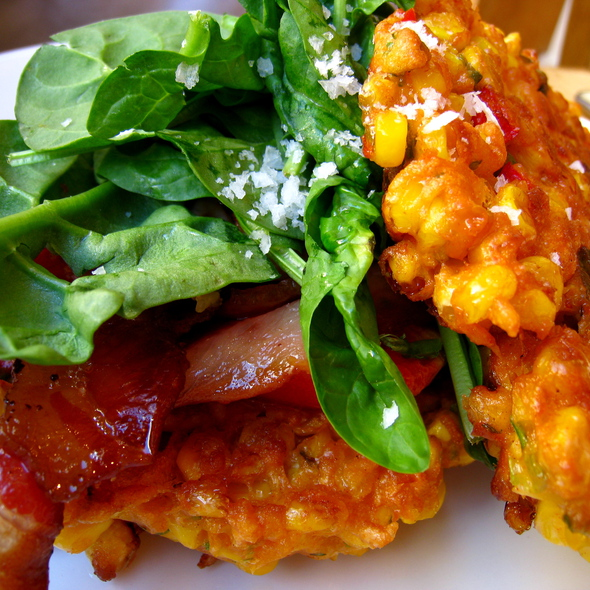 Sweet Corn Fritters @ Bills