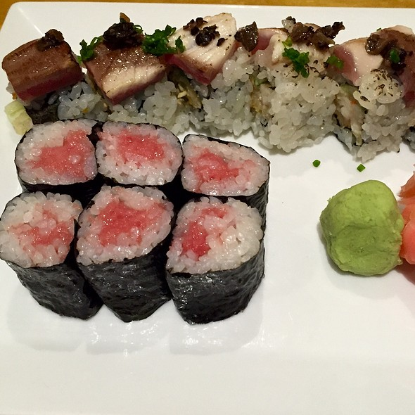 Yellowtail Truffle Sushi Roll And Toro Maki