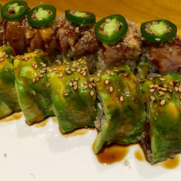 Yellowtail Jalapeño Sushi Roll And Caterpillar Roll
