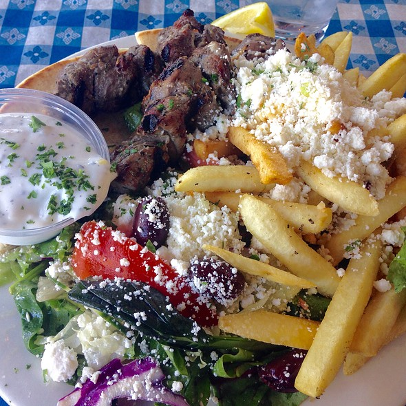 Lamb Kebab With Feta Fries