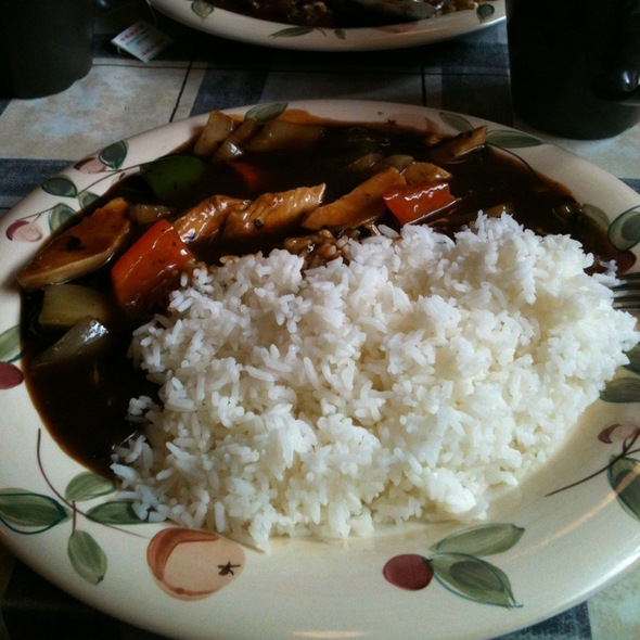 Beef With Green Pepper & Blackbean Sauce @ Yummy Food Chinese Cafe